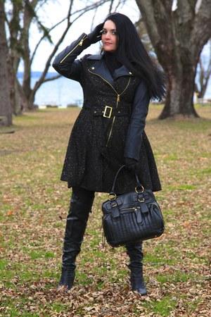 black Bebe coat - black LABELSHOEScom boots