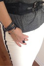 Black-bag-black-pumps-black-bracelet-black-ring-white-zara-pants