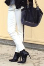 White-zara-jeans-black-boots-black-bag-white-fendi-sunglasses