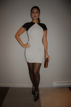 leather sleeve Rush Couture dress