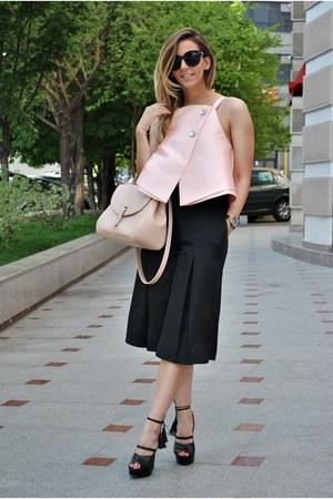 black Inia Lavin sandals - light pink OASAP blouse