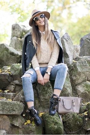 black Choies boots - camel Choies hat - light brown Michael Kors bag