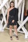 Black-choies-skirt-black-prabal-gurung-sandals