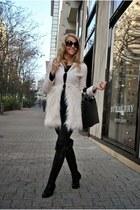 eggshell Sheinside coat - Martofchina boots