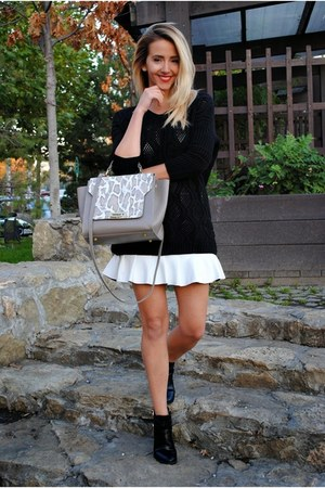 white run skirt - silver Dasha bag