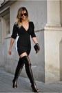 Black-jessica-buurman-boots-black-sheinside-dress
