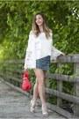 Red-sammydress-bag-white-sammydress-blouse