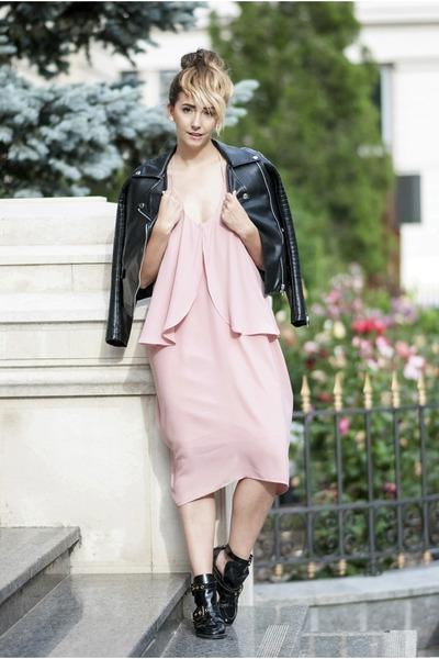 928f340446 Black Choies Boots, Light Pink Shein Dresses |