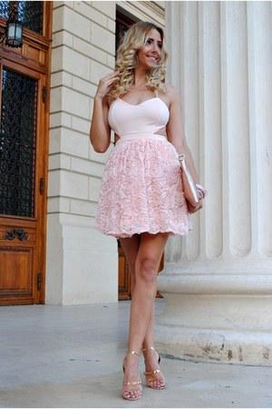 light pink Mart of China dress - light pink OASAP bracelet