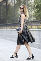 black Jessica Buurman shoes - black Zara top - black Chies skirt