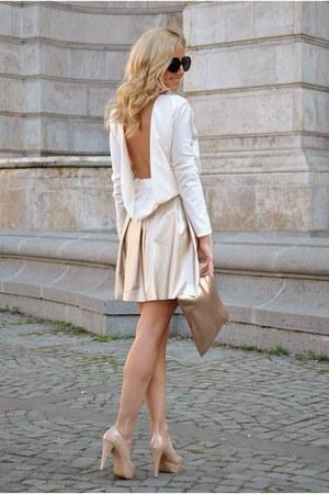 white Manuella L blouse - mustard Manuella L skirt
