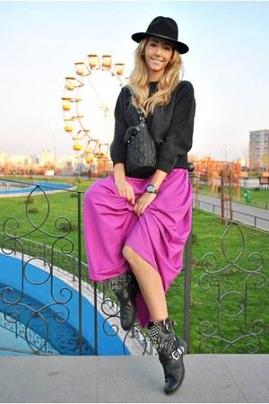 magenta DIY skirt