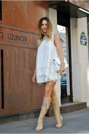 ivory shein dress
