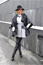Sheinside cape - Choies skirt - OASAP blouse