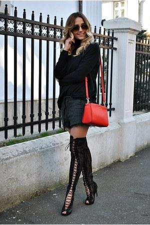 black Ami Club Wear boots - red Michael Kors bag - black Zara shorts