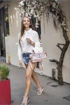 bubble gum Giuseppe Zanotti shoes - white VIPshop shirt