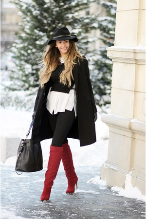 ruby red Jessica Buurman boots - black Shopbop hat