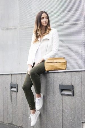 white Zara jacket - white Shopbop sneakers