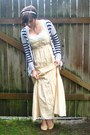 Light-yellow-striped-maxi-forever-21-dress-white-striped-target-cardigan
