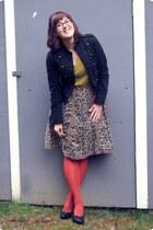 brown Given skirt - black Target jacket - mustard thrifted shirt
