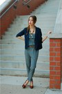 Navy-urban-outfitters-blazer-blue-jumpsuit-lulus-jumper