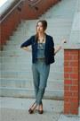 Navy-urban-outfitters-blazer-blue-jumpsuit-lulus-jumper