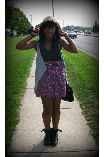 c1ee204a1f452 H M hat - Walmart top - Urban Outfitters vest - vintage belt - Urban  Outfitters