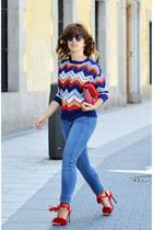 blue shein sweater
