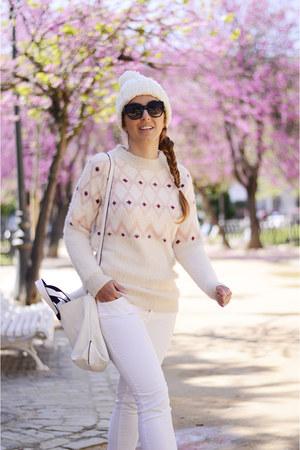 cream Rosegal sweater