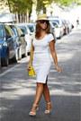 Yellow-zara-bag-white-zara-heels