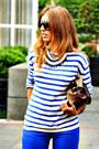 Blue-h-m-jeans-blue-h-m-sweater-brown-misako-bag-blue-pivadiva-necklace