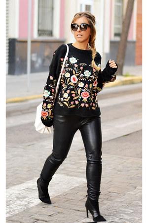 black zaful sweater