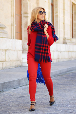 red Mango jeans - ruby red Sfera sweater