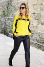 Yellow-sheinside-sweater