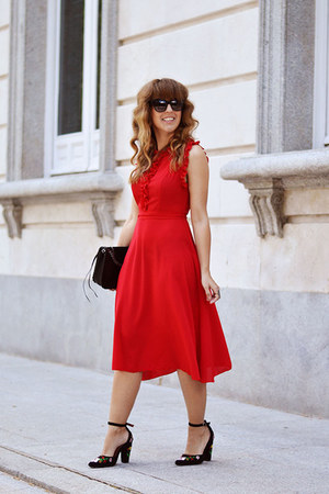red shein dress