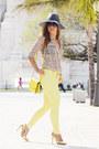 Light-yellow-suiteblanco-jeans-gray-unit-hat-off-white-suiteblanco-shirt