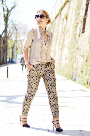 gold Sfera shirt - gold BLANCO pants