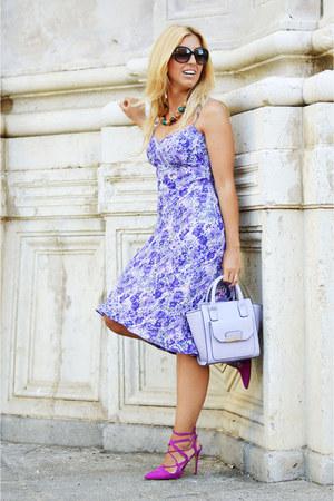 periwinkle asos bag - hot pink Zara heels