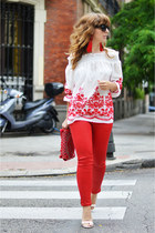 red Mango jeans - red zaful shirt