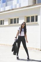 Flyfor boots - Primark bag - DressLink sunglasses - pull&bear t-shirt