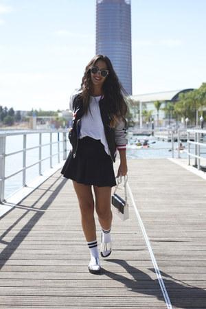 pull&bear sunglasses - sammydress jacket - pull&bear skirt - Kondy sandals