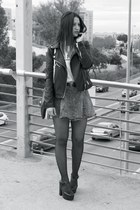 H&M shoes - Stradivarius jacket - H&M skirt