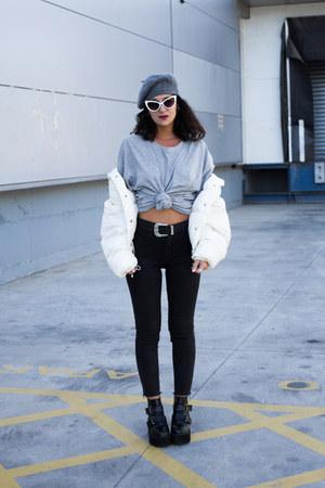 pull&bear belt - GAMISS boots - zaful sunglasses - pull&bear pants - H&M t-shirt