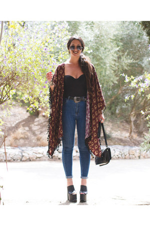 Primark bag - YRU sandals - Ay Audrey cape - DressLink glasses