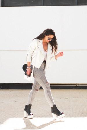 H&M boots - Zara shirt - H&M top