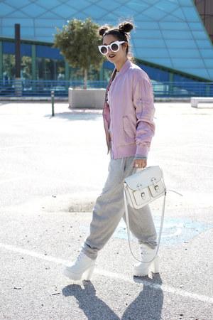 zaful boots - H&M jacket - H&M bag - zaful sunglasses
