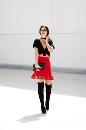 AndoLiando skirt - Marypaz boots - Zara t-shirt
