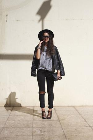 pull&bear jacket - asos sunglasses - Stradivarius pants