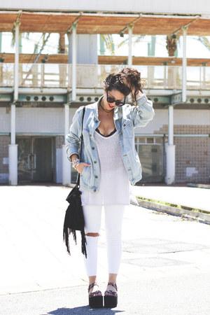 pull&bear jacket - asos glasses - Zara pants - YRU sandals