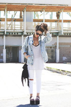 pull&bear jacket - asos glasses - Zara pants - YRU sandals
